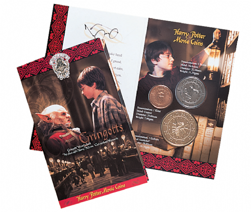 Harry Potter Gringotts Coins Pack by Pobjoy Mint - Production discontinued